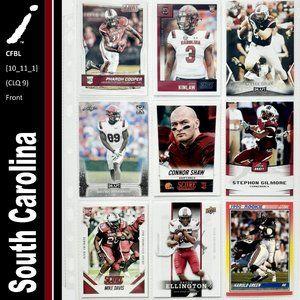 South Carolina Gamecocks 9 Card Lot - [10_11_1]